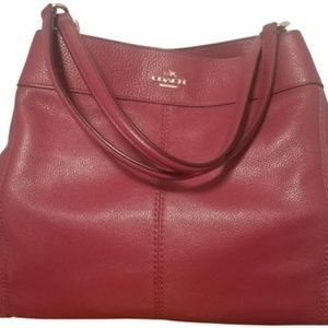 Deep Red Leather Satchel